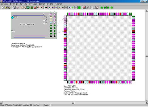 バージョン1.3のBSDLファイルでバウンダリスキャン