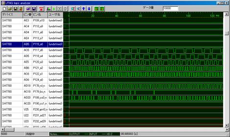 JTAGロジックアナライザで波形を観測