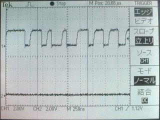 TCK=10MHz時の波形