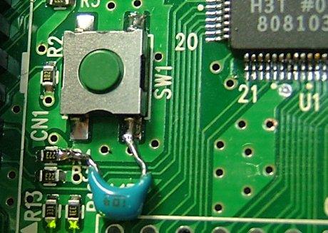 R4の位置にパスコンを挿入