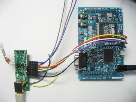 トラ技78K基板で、USB-JTAGをつくり、LatticeのXP2を書き込み