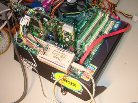 PCI Expressのボードを装着