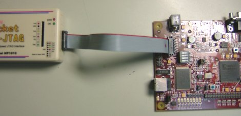 PocketJTAGとAVNETの評価ボードをJTAGで接続