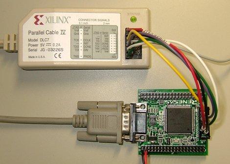 Interface付録基板をXILINXケーブルでつなぐ